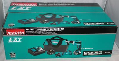 Makita Xt255t 18v Lxt Lithium Ion Cordless 2 Pc. Combo Kit 5.0ah New Sealed