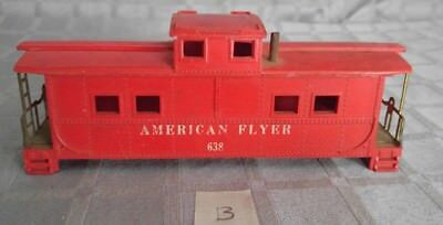 American Flyer 'S' Scale 638 Caboose with *Brass Handrails* BODY SHELL ONLY