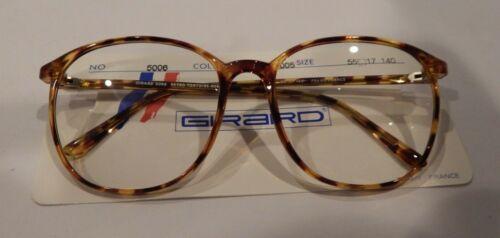 Vintage Girard 5006  Retro Tortoise 55/17 P3 Eyeglass Frame New Old Stock #313