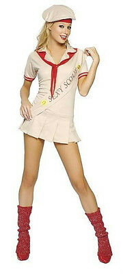 3 Piece Sexy Cookie Girl Adult Scout Costume -