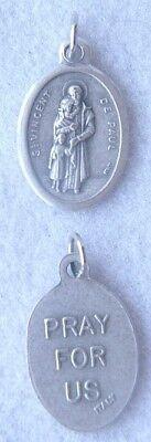 ST VINCENT de PAUL Catholic Saint Medal Patron hospitals charities prisoners (Paul Patron Saint Medal)