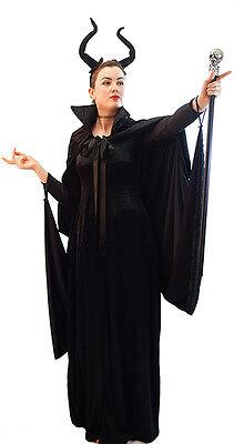 HALLOWEEN/Evil Fairy Queen MALEFICENT DRESS, CAPE & HORNS All Ladies Plus - Fairy Queen Kostüm