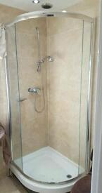Full corner shower set