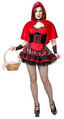 Halloween Costumes Red Riding Hood Wolf (Wolf Bait Red Riding Hood Fancy Dress Up Halloween Sexy Deluxe Adult)