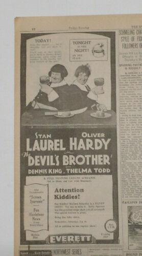 "Laurel & Hardy in ""The Devil"