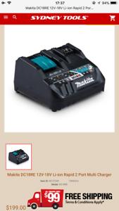 Makita 18V&12V dual Rapid charger