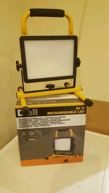 30w LED Rechargable light with stand & chargers