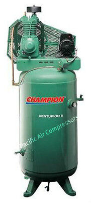 Champion 5 Hp 2 Stage 1 Phase 230 Volt 19.1 Cfm Air Compressor 2v41c60vc Quincy