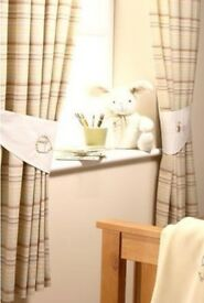 Nursery cushions, reversible tie backs & lampshade