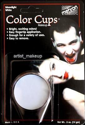 Mehron Moon Light White Foundation Cream Face Paint 0.5 oz Costume Stage - White Cream Face Paint