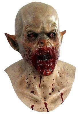 Scary Vampire Mask Head & Chest Deluxe Bloody Killer Latex Halloween Costume NEW - Vampire Killer Halloween Costume