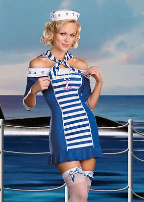 Womens Adult Sexy SHIP SHAPE SWEETIE Sailor Capt Costume