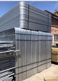 Round top heras site security fence panels *NEW