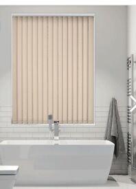 Made to measure blackout vertical blinds 153 cm width / 103 cm drop