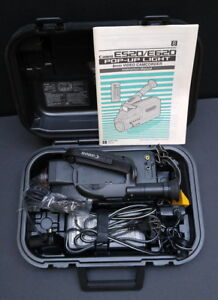 Canon E520 8mm Camcorder with power adapter, manual and case