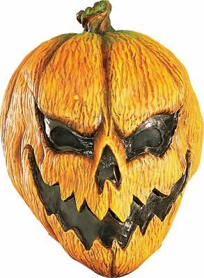 orange SCARY EVIL PUMPKIN MASK jack o lantern halloween costume accessory mens