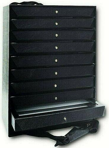 10 Trays Jewelry Storage Jewelry Organizer Travel Jewelry Case FREE Liner &Strap