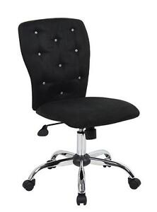 Diamond Glitter Bling Home Office Desk Computer Armless Chairs | eBay