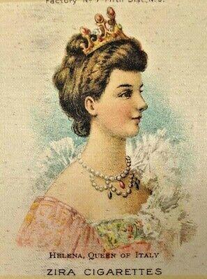 Vintage Zira Cigarette Tobacco Silk Helena Queen of Italy Factory No 7