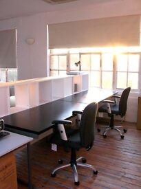Desks available at our creative studio in Haggerston, close to Shoreditch & Dalston