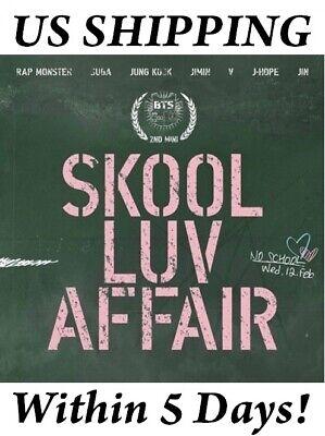 US SHIPPING BTS-[SKOOL LUV AFFAIR] 2nd Mini Album CD+PhotoCard+Book+Gift - Affair Cd