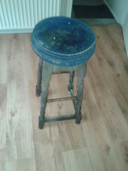 Pleasant Vintage Tall Wooden Bar Stool In Wigan Manchester Gumtree Squirreltailoven Fun Painted Chair Ideas Images Squirreltailovenorg