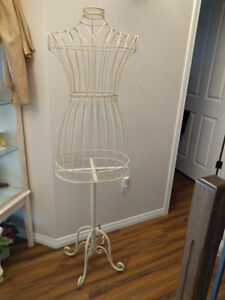 Wrought Iron Mannequin Dress Form