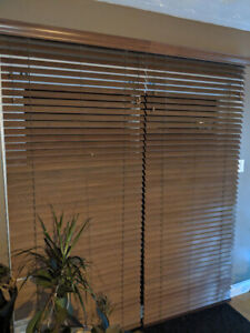 Wood patio blinds