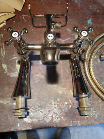 gold bath and shower tap