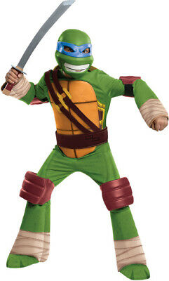 Jungen Kind Teenage Mutant Ninja Turtles Deluxe Gepolsterter Leonardo - Deluxe Kind Leonardo Kostüm