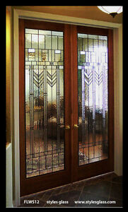 a great set of heritage Stain glass interior doors Stunning