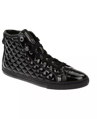 GEOX Respira New Club Schwarz Lack Sneaker Schuhe Boots Damen 39 Black Schnürer