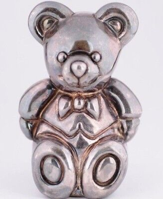 TIFFANY&CO .925 STERLING SILVER Teddy Bear Rattle Baby Infant Toy Electroform (Tiffany Baby Jewelry)