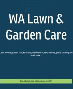 WA Lawn and Garden Care Armadale Armadale Area Preview