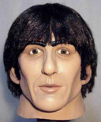GEORGE HARRISON LATEX MASK - Costume Prop The Beatles Fab Four Cosplay Halloween