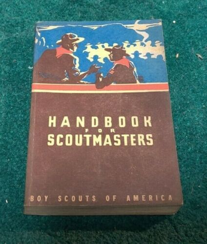 1947 HANDBOOK FOR SCOUTMASTERS Boy Scouts of America Great Condition CLEAN