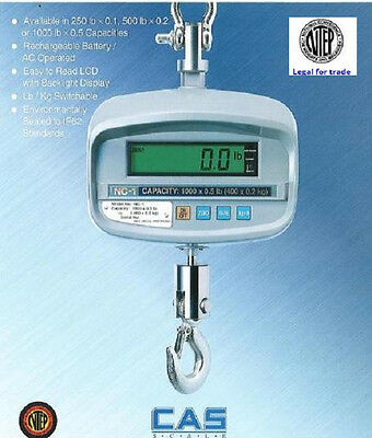 Certified Heavy Duty Crane Scale 1000x 0.5 Lbnteplegal For Tradeweather Proof
