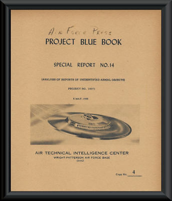 1955 Project Blue Book Special Report 14 Cover Reprint On 60 Year Old Paper *142