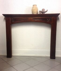 Solid wood fireplace surrounding for sale $275
