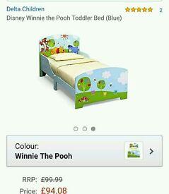 Toddler/junior Winnie the pooh wooden bed