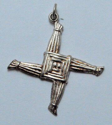 925 Sterling Silver St Brigid Cross Pendant  Charm 2 2 G   Made In Ireland