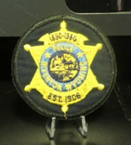 Retired Patch: Police Officer, Riverton, Wyoming Department Patch