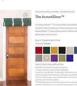 Acoustic door panel