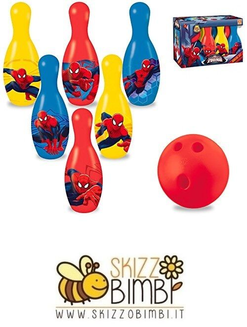 Spiderman Set Palla Bowling e Birilli