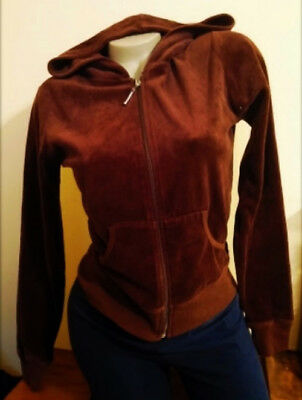 - Sexy Juniors brown Ambiance apparel Bozzolo Velour hoodie jacket top sz M
