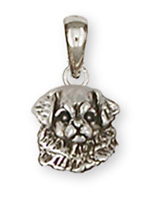 Tibetan Spaniel Pendant Handmade Sterling Silver Dog Jewelry TS2-P