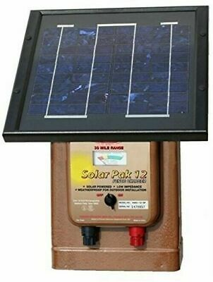 Parker Mccrory Mag12-sp Solar Powered 12v Fence Charger 30 Mile Low Impedance