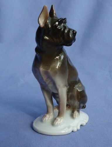 1930 giant SCHNAUZER Rosenthal dog Germany