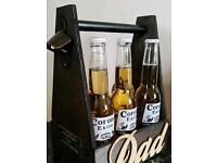 Wooden beer crate handmade Xmas gift