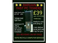 PC COMPUTER DESKTOP TOWERS..DELIVER&SETUP..READY2USE